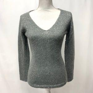 Joe Fresh Gray Sequined Sweater XS